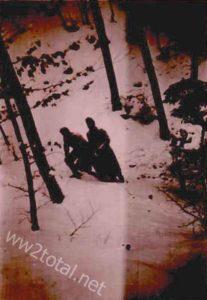 Tiefer Schnee Westfront Winter 1939/40