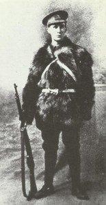 Britischer Infanterist im Winter 1914/15