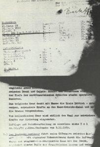 Bei Mechelen erbeuteter deutscher Aufmarschplan