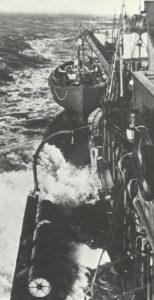 deutscher U-Boot-Jäger auf Vorpostenfahrt