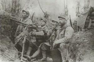 französisches Hotchkiss Maschinengewehr-Team