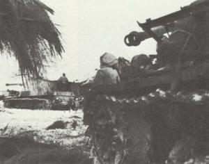 Panzerjäger vom Typ Nashorn vor Weichsel-Brückenkopf
