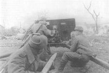 Russische Artillerie bei Posen