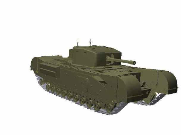 3d-Modell Churchill VI