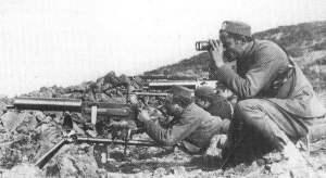 Maschinengewehr-Kompanie der montenegrinischen Armee