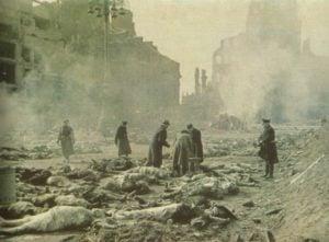 Verbrennung der Opfer in Dresden