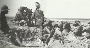 Indische Truppen verteidigen Suez-Kanal