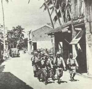 Japanische Patrouille auf Guam