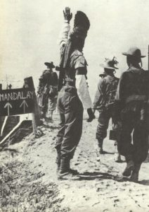 Gurkha-Truppen auf Mandalay