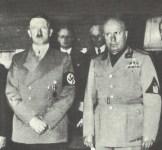 Hitler und Mussolini bei der Münchener Konferenz
