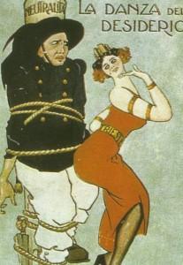 Karikatur zur italienischen Neutralität
