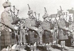 Musiker Highland Division