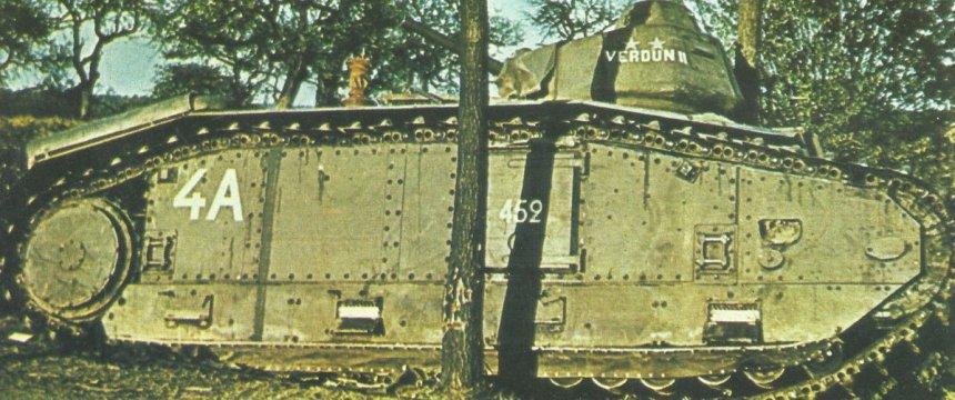schwerer französischer Kampfpanzer Char B1