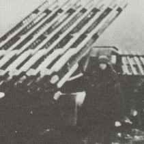 BM-13N Katjuschas im Einsatz bei der deutschen Wehrmacht