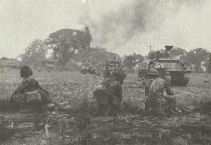 Indische Truppen vor Rangun