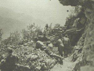 Gräben über dem Isonzo
