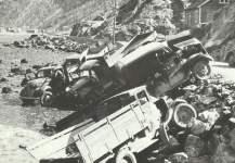 zerstörtes britisches Material in Norwegen