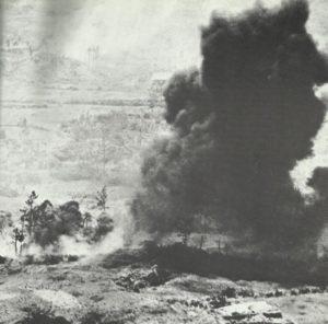 Flammenwerfer-Einsatz auf  Okinawa