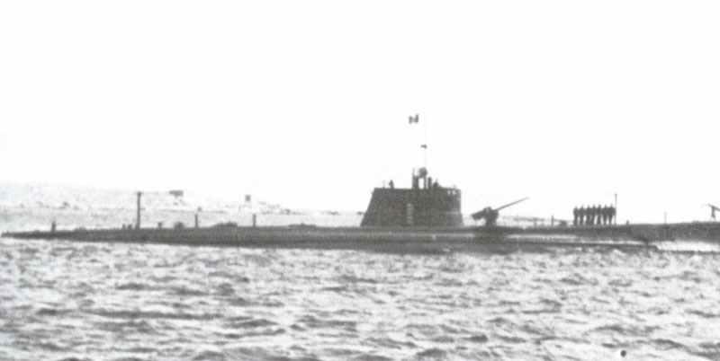 italienische Unterseeboot Malachite