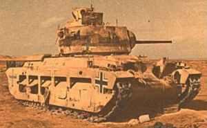 erbeutete Matilda-Panzer