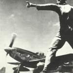 P-51 Mustang Langstreckenjäger starten von Iwo Jima