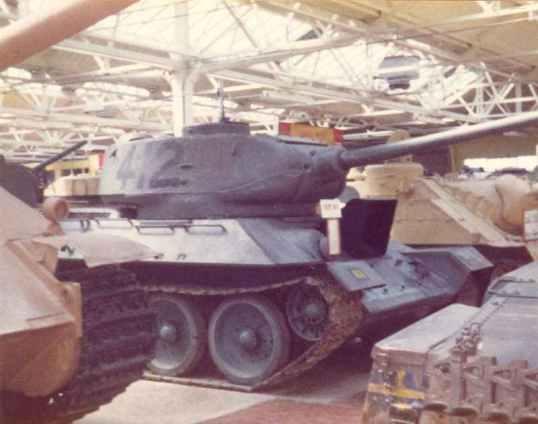 Seitenansicht eines T-34