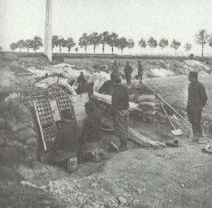 Französische Artillerie Zweite Schlacht von Artois