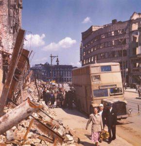 Stadt nach Kriegsende