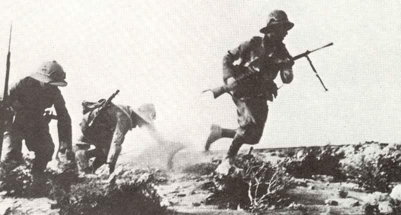 Soldaten von Grazianis Wüstenarmee