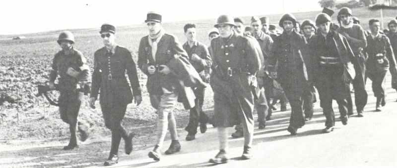 gefangengenommene Soldaten von Vichy-Frankreich