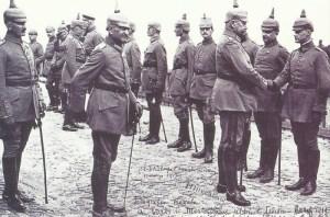 Hindenburg empfängt herausragende Soldaten