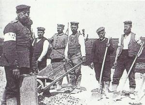 Karl Liebknecht bei Zwangsarbeit