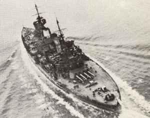 HMS King George V als Flaggschiff von Admiral Tovey