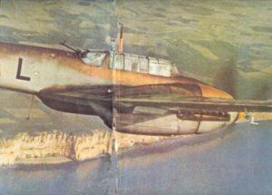 Bf 110 über den Kreidefelsen von Dover