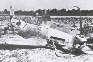 notgelandete Bf 109 von Werras
