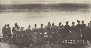 Göring gegenüber den Kreidefelsen von Dover