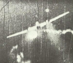 Backbord-Triebwerk einer Bf 110  explodiert