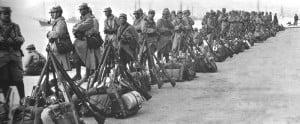 Französische Soldaten in Saloniki