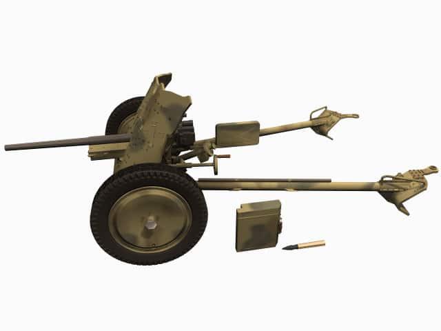 3D-Modell der 3,7-cm PAK 36.