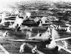 Zeros auf dem Flugzeugträger Shokaku