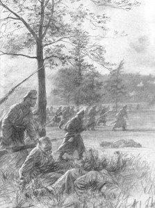 Angriff russischer Infanterie -