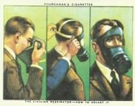 Luftschutz-Anweisungen auf Zigaretten-Packungen