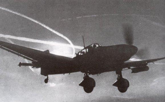 Ju 87 Stuka im Flug.