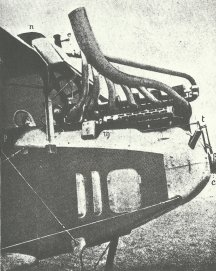 otor des Albatros C III mit dem Spandau-MG