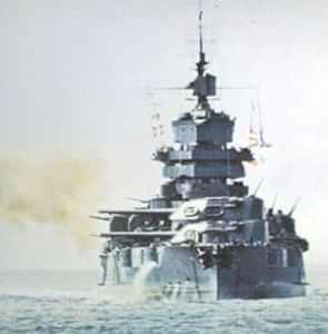 amerikanisches Schlachtschiff