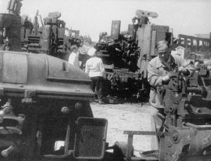 evakuierte sowjetische Fabrik