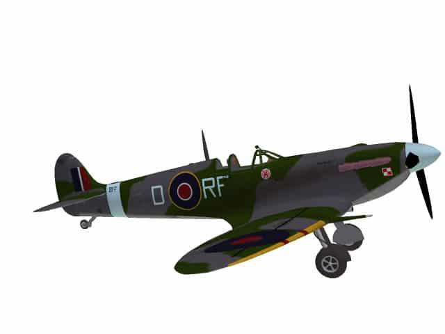 3D-Modell Spitfire VB