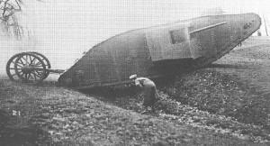 'Mother', der Prototyp für den britischen Panzer