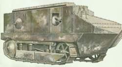 Modell eines Schneider-Panzer.