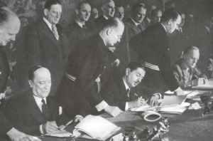 Unterzeichnung des jugoslawischen Beitritts zum Dreimächtepakt